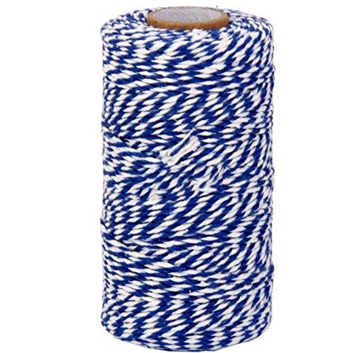 CAOLATOR Accessoires Bricolage Couleur Corde de Chanvre pour Artisanat Scrapbooking Jardinage Décoration en Mariage Party Vacances Jardin Bleu