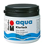 Marabu 11350075000 - Farbloser aqua Klarlack, transparent - hochglänzender Acryl - Lack auf Wasserbasis, für Hobby und Freizeit, zum Lackieren vieler Bastelarbeiten und Materialien, 500 ml...