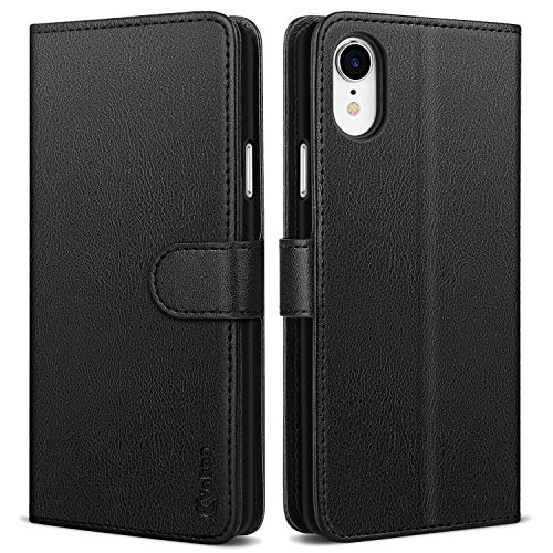 Vakoo PU-Pelle Cover per iPhone XR, Portafoglio Custodia per Apple iPhone XR - Nero