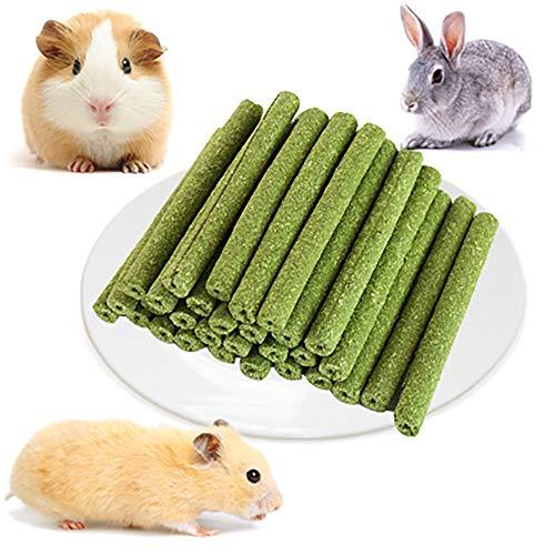 DEDC 30 pz Timothy Erba Bastoncini da Masticare per Coniglio Macinazione attività per Piccoli Animali Gioca Masticare Giocattoli per Conigli Criceto Cavie Gerbilli