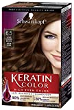 Schwarzkopf Keratin Color Anti-Age Hair Color Cream, 6.5 Light Golden Brown...