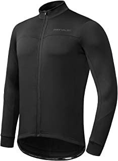 Przewalski Men's Winter Thermal Cycling Jersey Long Sleeve Bike Jacket Breathable Full Zipper Bicycle MTB Shirt, Classic S...