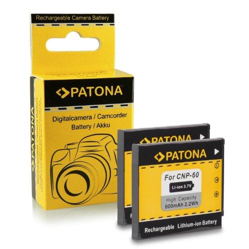PATONA 2X Akku NP-60 kompatibel mit Casio Exilim EX-FS10 EX-Z80 EX-Z85 EX-Z90