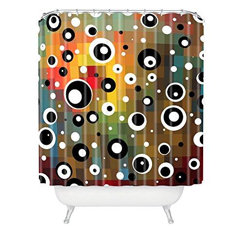 DENY Designs Madart Inc. Aqua Burn Duschvorhang, extra lang 69-Inch by 72-Inch Polka Dots Glorious Colors Shower Curtain