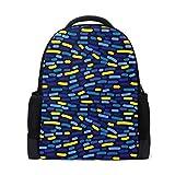 Mochila para portátil con gráficos abstractos coloridos, mochila escolar casual para viajes