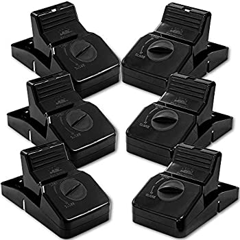 Pest Control Rat Traps & Mouse Traps for Instant Kill Results Set of 6 Large Reusable Snap Traps for Mice Chipmunks  N Squirrels Humane Mousetraps for The House
