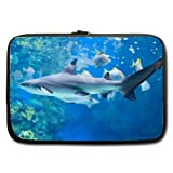 Laptop Sleeve,Notebook Computer Bag Case Cover White Shark 17 Inch Comfortable (Double-sided,No Straps)