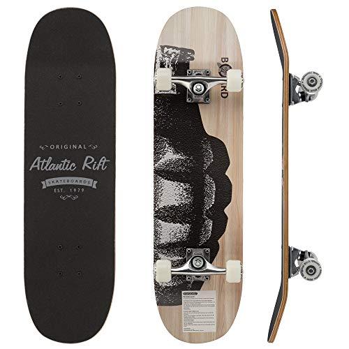 Deuba Monopatín Atlantic Rift Azul Skateboard de Madera Actividad Exterior 80cm Antideslizante Ruedas ABEC 9 Deporte