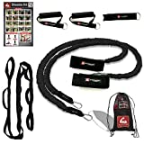 ArmCare2Go Baseball/Softball/Crossfit/PT - Resistance Bands - Travel Bag,Bands,Door Anchor,Handles,Stretch Strap,Gain Velocity,Strength, (Black(College/Pro/Adult-Heavy Resistance))