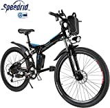 Speedrid Vélo Électrique Pliant, Vélo de Montagne 26' Vélo à Assistance Électrique pour Adulte...
