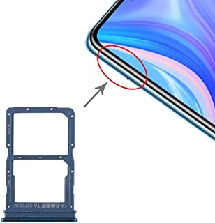 ZHANGYOUDE Phone Repair Parts SIM Card Tray + NM Card Tray for Huawei Enjoy 10s / Honor Play 4T Pro (Green) (Color : Green)