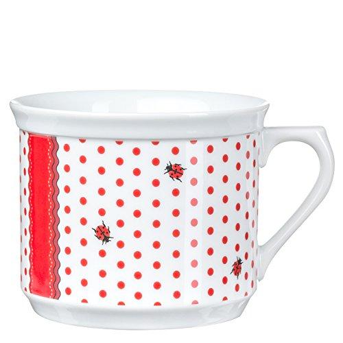 Feinkost Käfer Geschirr, Porzellan, Weiß/rot, 14 x 14 x 10 cm