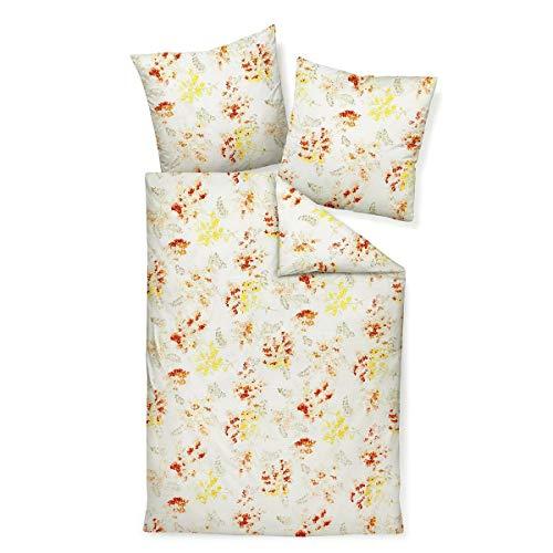 Janine Design Mako-Satin Bettwäsche Moments 98070-03 gelb Terra 1 Bettbezug 135 x 200 cm + 1 Kissenbezug 80 x 80 cm