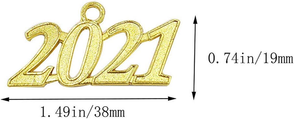 Charms Pendants DIY 9 Pcs Bracelet and Necklace Grekywin Gold Color Signet 2019 Year for Graduation Tassel