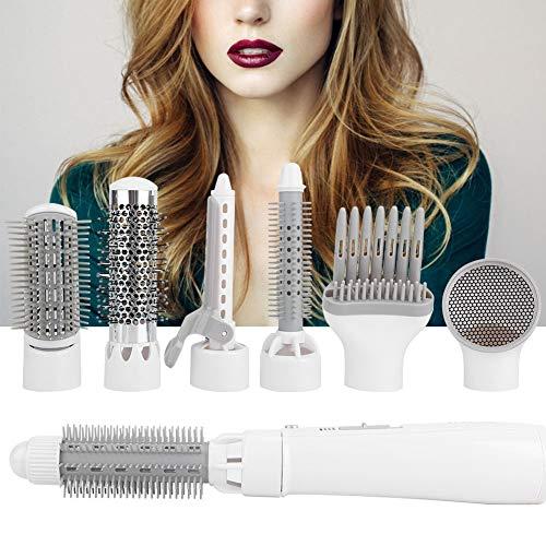 Cepillo secador de pelo 7 en 1, juego de cepillo de aire caliente multifunción, secador de pelo eléctrico, juego de secador de pelo con peine, cepillo secador de pelo aniónico y voluminizador. Adecuad