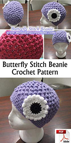 Crochet Beanie Pattern - Butterfly Stitch Crochet Beanie PDF pattern (English Edition)