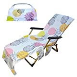 Generleo Beach Chair Cover Towel Patio Pool Chaise Lounge Chair Cover with Pockets