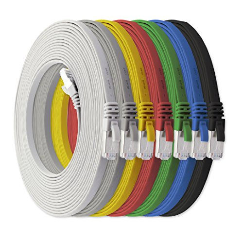 3m - CAT7 Cable Red Plano 7 Colores - 7 Piezas 10