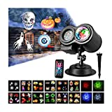 Halloween Projection Light,Christmas Projector Light, Led 2 in 1 Ripple Ocean Light with 12 Slides...