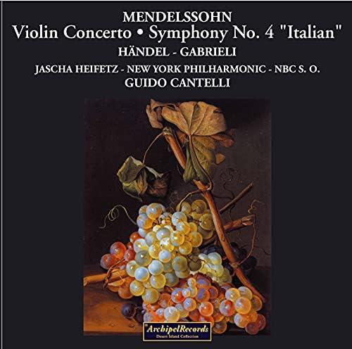 New York Philharmonic, The NBC Symphony Orchestra, Guido Cantelli & Jascha Heifetz