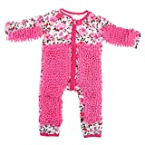 SM SunniMix Kreative Baby Kleidung Wischmop Strampler, Unisex wischen Boden Overall Jumpsuit zum Krabbeln Babybekleidung, Farbwahl - Rosa, 85 cm