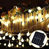 Guirnalda Luces Exterior Solar, Nasharia 100 LED 12M Cadena Solar de Luces, IP65 Impermeable 8 Modos, Guirnaldas Luces Solar para Exterior, Interior, Jardines, Boda, Fiesta, Casas