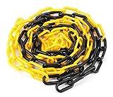 SNS SAFETY LTD Cadena de plástico negro y amarillo de 6 mm 25,0 metros...