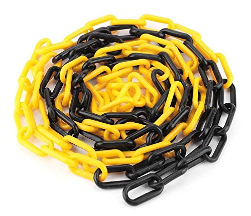 SNS SAFETY LTD Cadena de plástico negro y amarillo de 6 mm 25,0 metros
