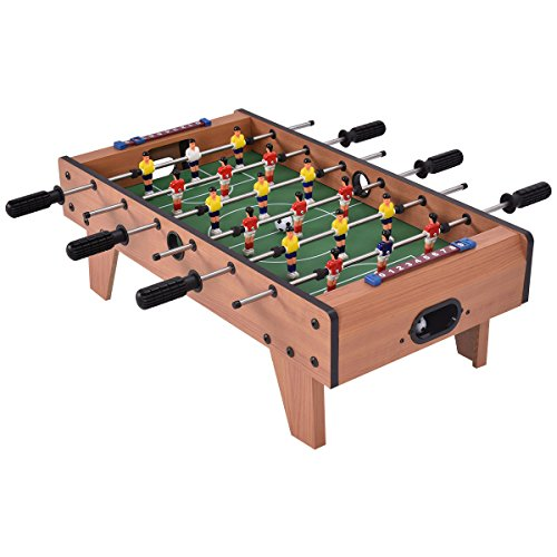 Giantex 27' Foosball Table, Easily Assemble Wooden Soccer Game Table Top w/Footballs, Indoor Table Soccer Set for Arcades, Game Room, Bars, Parties, Family Night