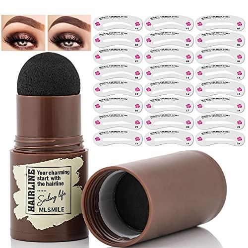 Eyebrow Stamp Shaping Kit, Eyebrow Powder Stamp...