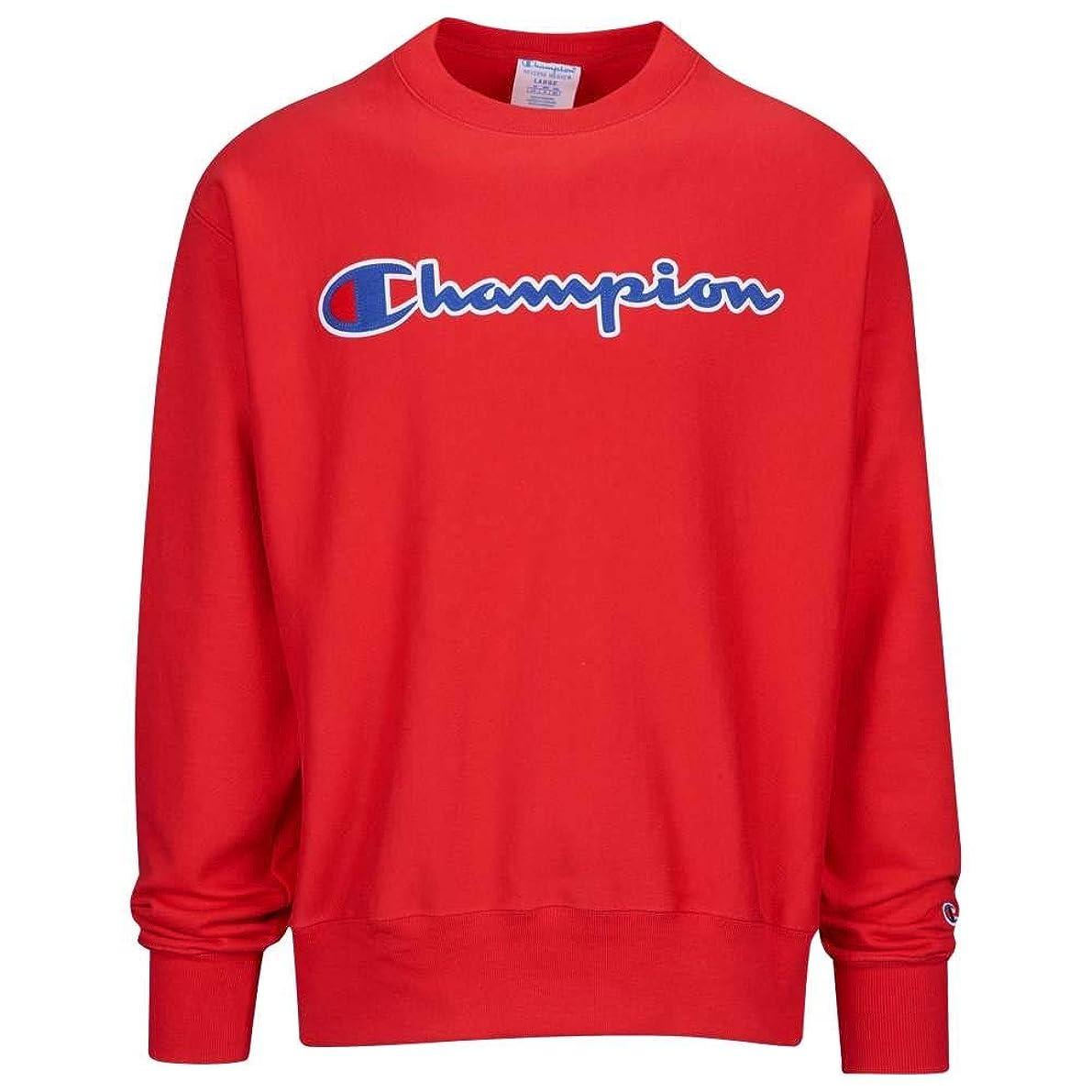 もっと便利さ制限(チャンピオン) Champion メンズ トップス フリース Reverse Weave Graphic Fleece Crew [並行輸入品]