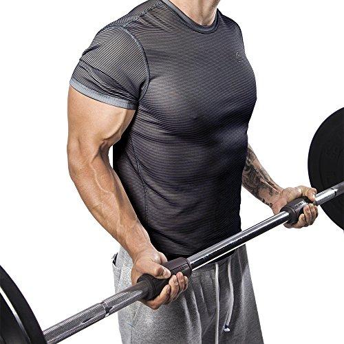 Alpha Grips 2.0 Inch Durchmesser – 1 Paar – Extrem Arm Blaster – Ergonomische Dicke Griffe – Beste Fat Bar Training Griffe (Grau) - 4