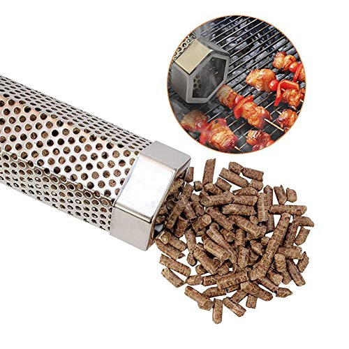 Best Prices! WENMIN Pellet Smoker Tube, Portable Particle Smoke Pipe, Large Capacity, Effective and ...