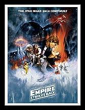 Star Wars 30 x 40 cm El Imperio Contraataca una Hoja impresión enmarcada