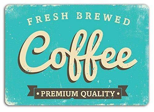 cwb2jcwb2jcwb2j Metalen bord Verse Gebrouwen Koffie Kunst Bonen Machine Mok Ontbijt Latte Decor Novelty Art Sign Grappige Aluminium Metalen Tin Tekenen 12
