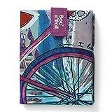 Roll'eat - Boc'n'Roll Teens Girls | Bolsa Merienda Porta Bocadillos, Envoltorio Reutilizable y Ecológico sin BPA, Bicycle