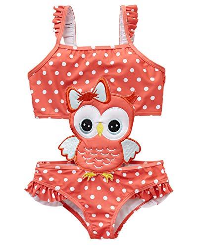 kavkas Baby/Peuter/Baby Rash Guard Badpak voor Meisje Een Stuk Badpak Leuke Cartoon Bikini (12M-8T)