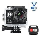 Action Kamera, MixMart 4K wasserdichte Action Cam WiFi Sports Kamera 170 ¡ã Weitwinkel mit 16 MP,...