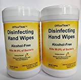 Disinfecting Antibacterial Wet Wipes - 2 Pack, Sanitizer,/Disinfectant/Deodorizer, Fresh Lemon Scent, Alcohol-Free, Gentle on Hands, Moisturizes with Aloe + Vitamin E, Easy Access Canisters,100 Ct x 2