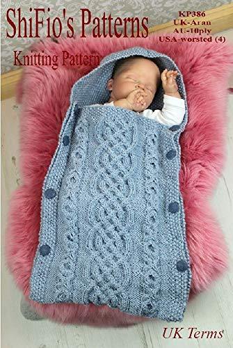 Knitting Pattern - KP386 - baby sleeping bag cocoon - 0-6mths (English Edition)