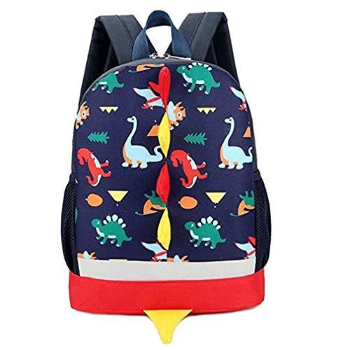 Little Kids Backpack Dinosaur kindergarten School Backpack-Dark Blue