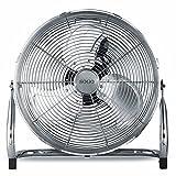 Sogo Ventilador Semi-Industrial Grande de bajo consumo, 3 velocidades, Aspas de Aluminio, Cromado Color Plata, Clase de eficiencia energética A (23 CM - 45W)