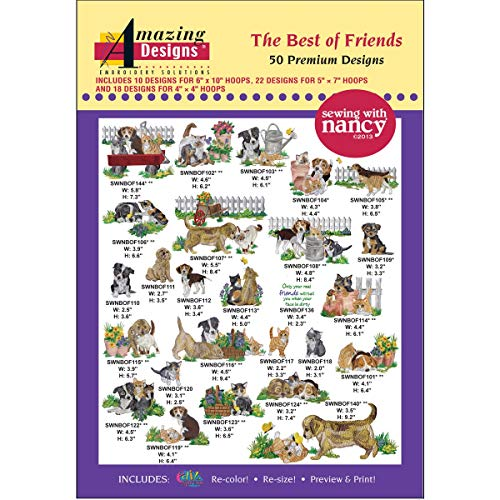 Amazing Designs: The Best of Friends Premium Embroidery Designs