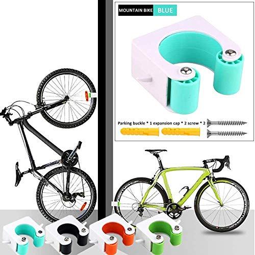 SONLIN 2PCS Fahrrad-Parkschnalle Wandhalterungshaken Rennrad-Parkschnallen Tragbarer Wandständer Fahrrad-Parkwerkzeuge Für Platzersparnis,Blue-MTB