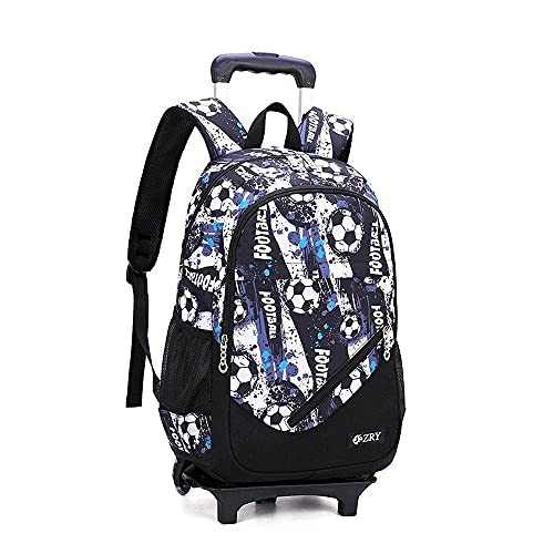 QWEIAS - Trolley da viaggio per bambini, borsa per la scuola, rimovibile, per studenti elementari, zaino impermeabile per bambini, con rotelle B-2 ruote