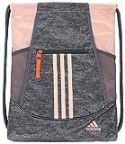 adidas Alliance II Sackpack (One Size, Jersey Onix/Glow Pink/Hi Res Coral/Onix)
