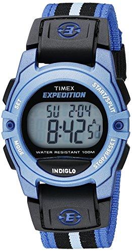 Timex Unisex TW4B02300 Expedition Mid-Size Digital CAT Blue/Black Nylon Strap Watch 1