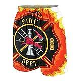 Hombres Casual Pantalones Cortos,Icono del departamento de bomberos con herramientas esenciales de servicio público de escalera de bomberos,Traje de Baño Playa Ropa de Deporte con Forro de Malla