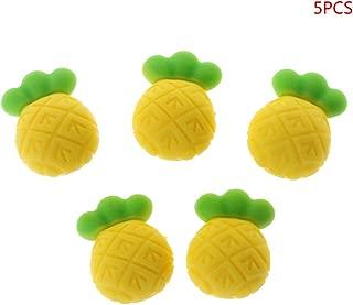 Rose Mentin 5pcs 1.8x2.5cm B/éb/é Dentition Perles de Silicone Ananas DIY Artisanat Accessoires M/âcher des Perles en Silicone