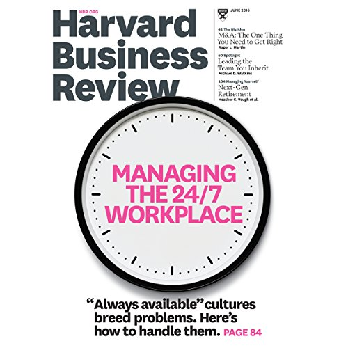 Harvard Business Review, June 2016 copertina